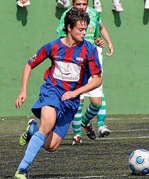 Samuel Manchón, con el CP Almendralejo