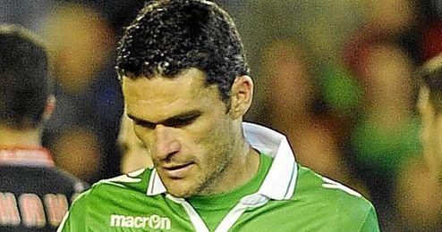 Jorge Molina sufre un esguince y podría perderse el próximo choque ante el Celta.