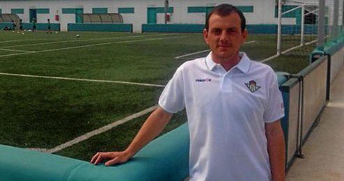Alberto González en las instalaciones deportivas del Betis.