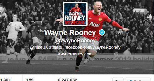 Twitter de Rooney.