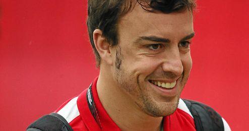 Alonso durante el Gran Premio de España.