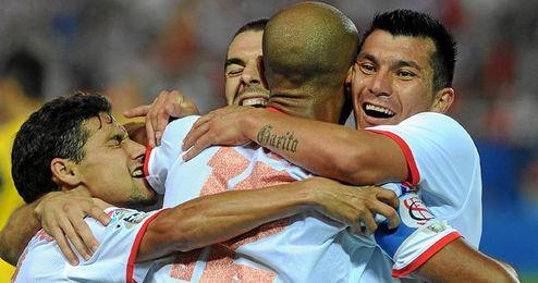 Imagen del encuentro de la pasada temporada 11/12 entre el Sevilla y la Real Sociedad en el Sánchez Pizjuán.
