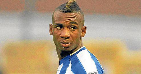 Mboyo durante un partido en la Liga belga.
