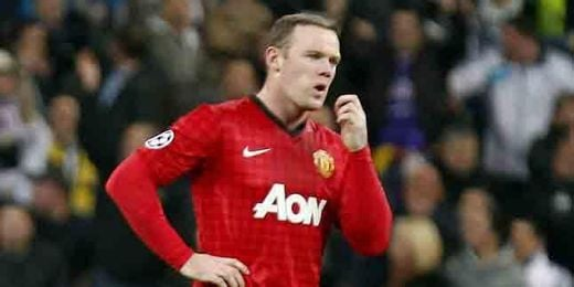 Rooney, durante un encuentro de Champions.