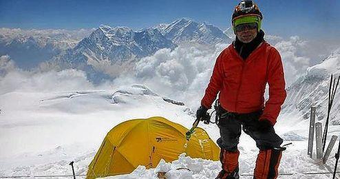 Juanjo Garra en una de sus expediciones.