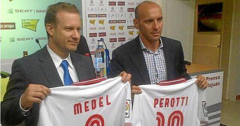Monchi en la presentación de la gira por Sudamérica del Sevilla.