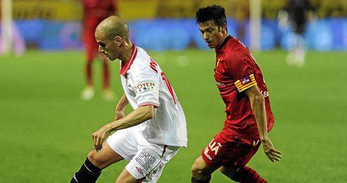 Martí, durante el encuentro de Copa disputado esta temporada en el Pizjuán.