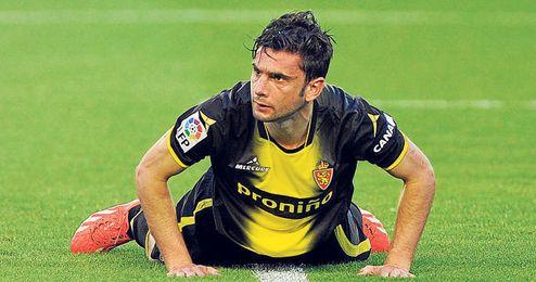 A sus 30 años, ha firmado trece goles esta campaña que no han evitado el descenso del Zaragoza.