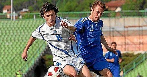 El extremo sevillista disputó 20´ en el Letonia-Bosnia que terminó 0-5.