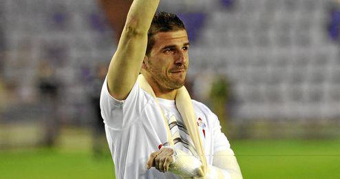 Javi Varas se despide de la afición del Celta tras lograr la permanencia.