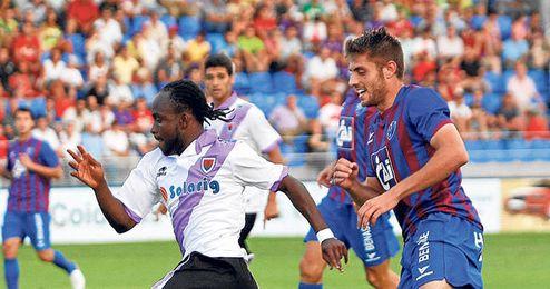 Cedrick se despidió de la afición del Numancia tras firmar por el Betis.