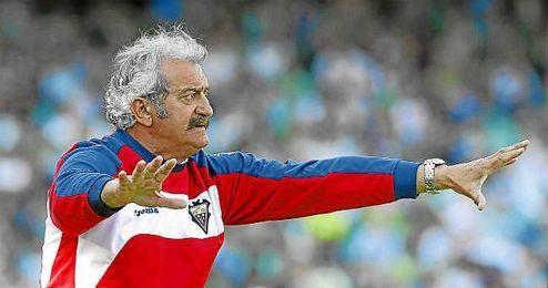 David Vidal durante su etapa como técnico del Albacete; ahora dirigirá al Xerez dos campañas.
