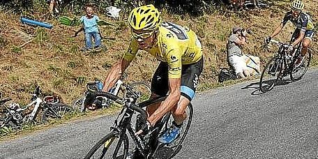 El actual líder del Tour, Chris Froome