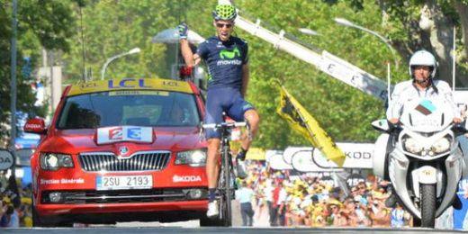 Rui Costa se impone en la decimosexta etapa.