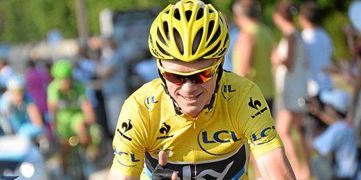 Imagen del podio final de la centésima edición del Tour de Francia.