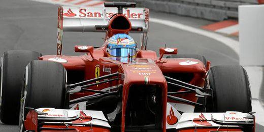 Fernando Alonso en un entrenamiento libre.