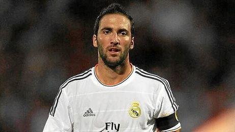 El delantero en el último partido que disputó como madridista.