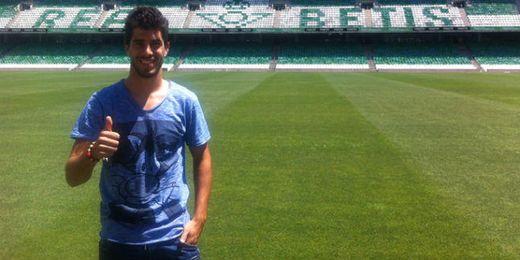 Dídac Vilà en el estadio Benito Villamarín.