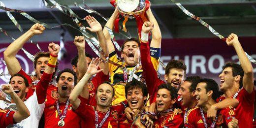 La selección española ocupa el primer puesto en la clasificación de la FIFA.