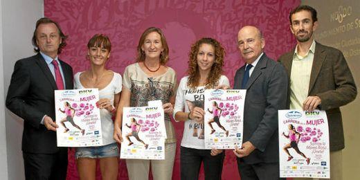 Imagen del acto de presentación de la Carrera de la Mujer de Sevilla.