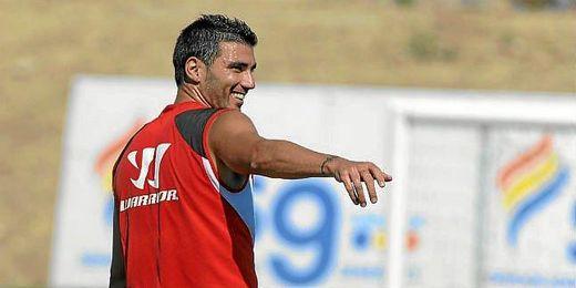José Antonio Reyes en un entrenamiento.