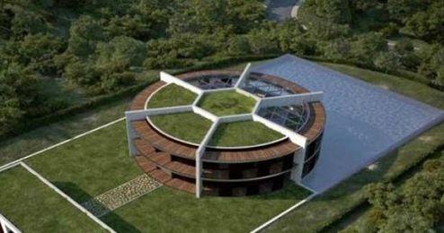 Maqueta de la casa ideada por el arquitecto valenciano.
