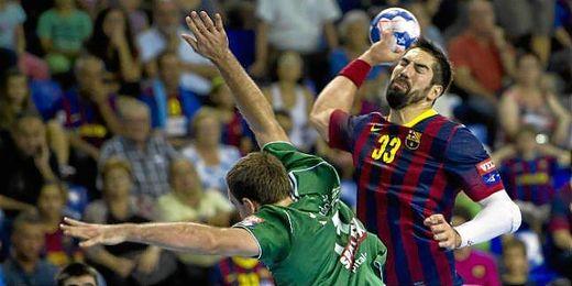 Karabatic en un partido de Liga de Campeones.
