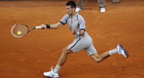Djokovic durante un partido.