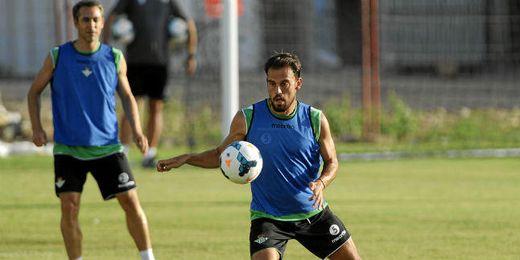 Javier Matilla durante un entrenamiento.