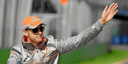 En la foto, Jenson Button tras unos entrenamientos.
