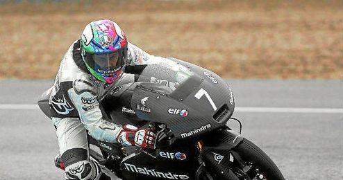 Efrén Vázquez durante los entrenamientos de Moto3.