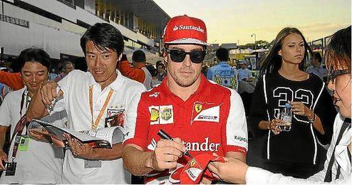 Alonso durante el GP de Japón en el circuito de Suzuka.