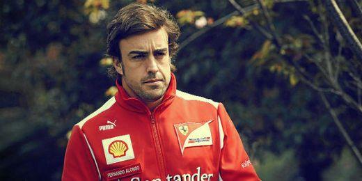 Fernando Alonso en el circuito de Monza.