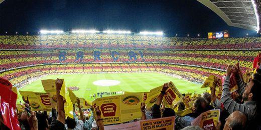 Aspecto de la grada del Camp Nou en el último Clásico celebrado.