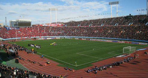 El Estadio Olímpico de Tokio abarrotado por espectadores.