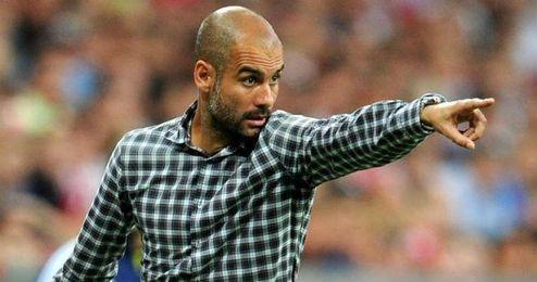 Pep Guardiola durante un partido con el Bayern.