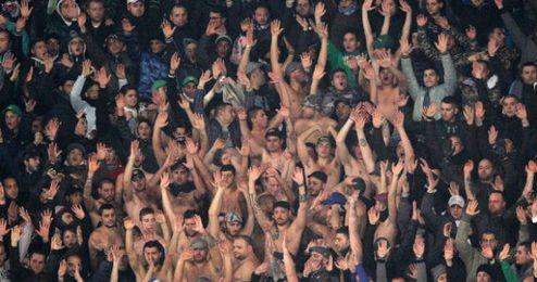 Aficionados italianos durante un partido disputado el pasado fin de semana.