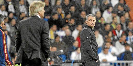 Mourinho y Pellegrini cuando ambos entrenaban en España.