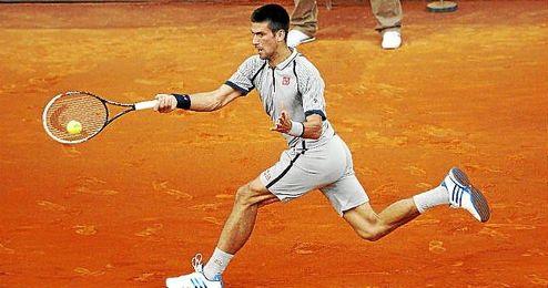 Djokovic durante la Mutua Madrid Open de 2013.