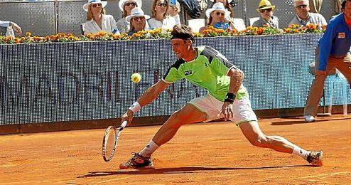 David Ferrer en el Mutua Madrid Open.