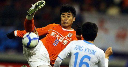 Imagen de un partido del equipo chino del Shandong Luneng.