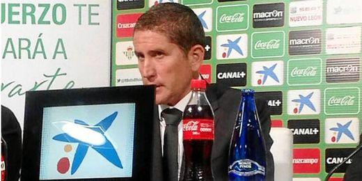Garrido, en su presentación como técnico del Betis.