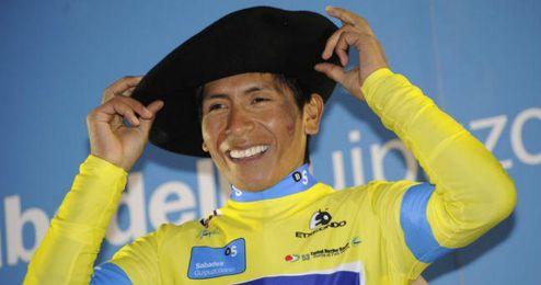 Nairo Quintana posando con un gorro en una imagen de archivo.