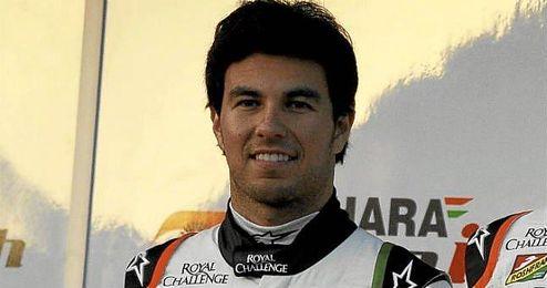 Sergio Pérez en los entrenamientos de Fórmula 1 en el circuito de Jerez.