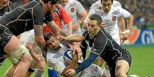 Francia y Escocia durante un partido del torneo