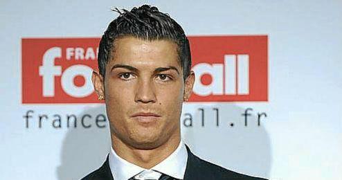 Ronaldo durante la ceremonia del Balón de Oro en enero
