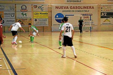 Lance del encuentro el el Real Betis FSN y Coineña FS.