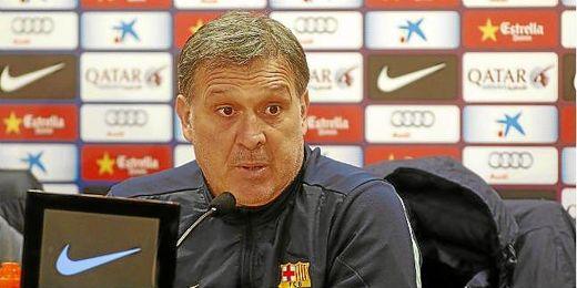 El ´Tata´ Martino, en una rueda de prensa.