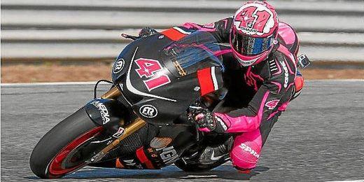 Aleix Espargaró durante los entrenamientos en el circuito de Jerez.