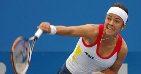 Silvia Soler, durante un partido.